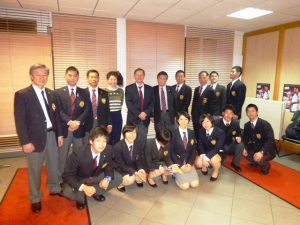 JKF & OKF staff with the Japanese competitions in Paris Premier League.  Mr. Atsushi Kakazu. ;  2nd from left in 2nd row.