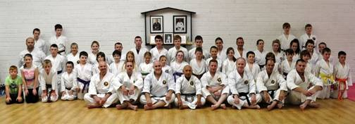 "Group photo from one of the ""Open Grade"" seminars with Shinjo Sensei in Ireland"